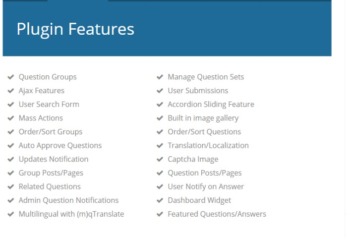 tribulant FAQ plugin
