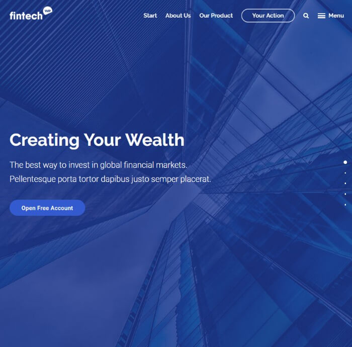 fintech Finance WordPress theme