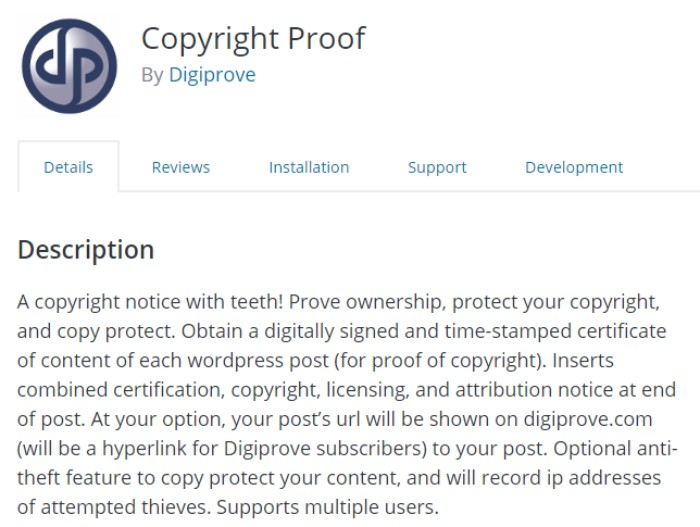 copyright proof