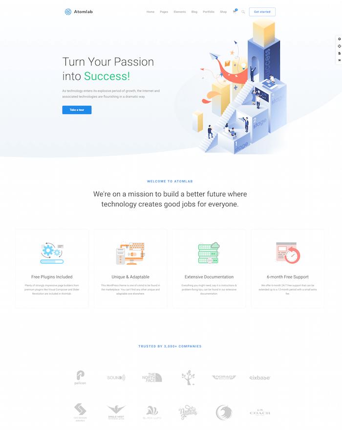 Atomlab Startup WordPress Theme