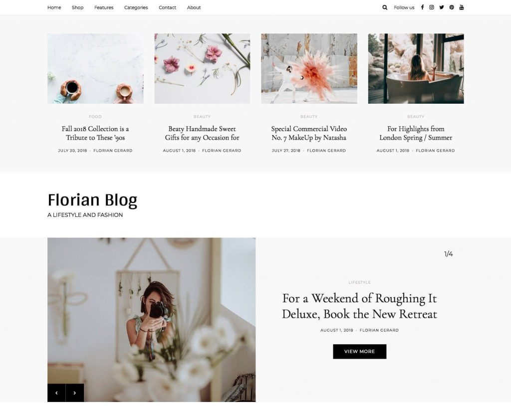 Florian WordPress Theme