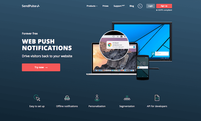 SendPulse Free Web Push
