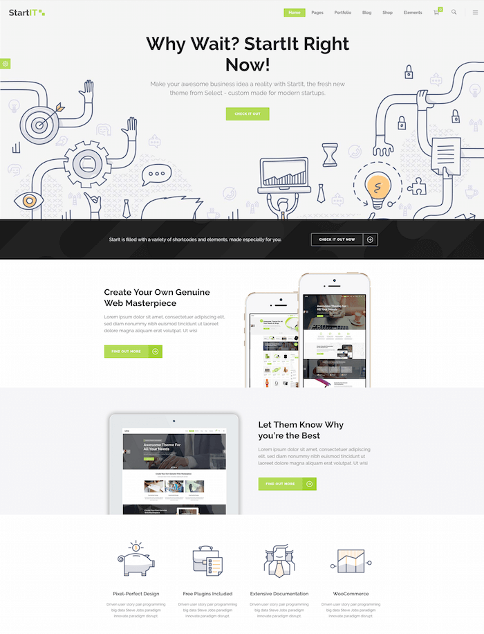 Startit WordPress Theme