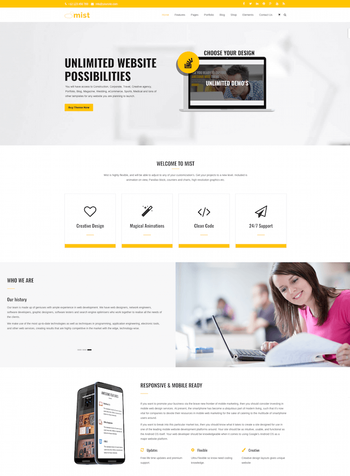mist-wordpress-theme