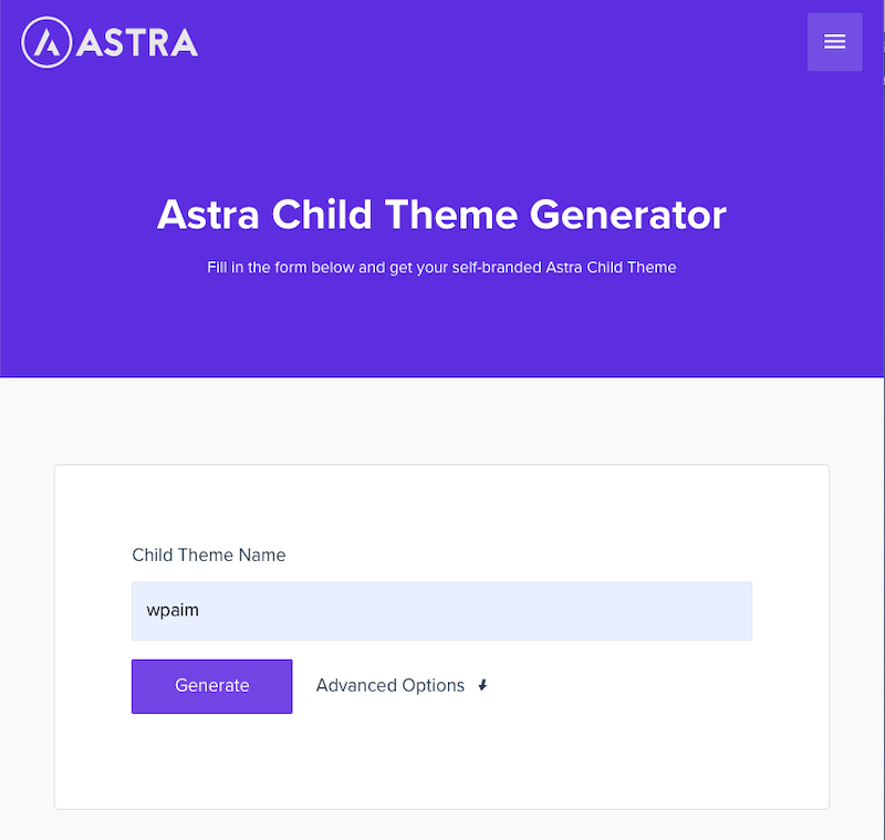 Astra Child Theme