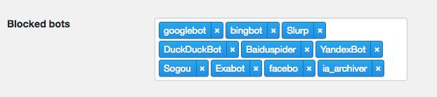 Block Bots