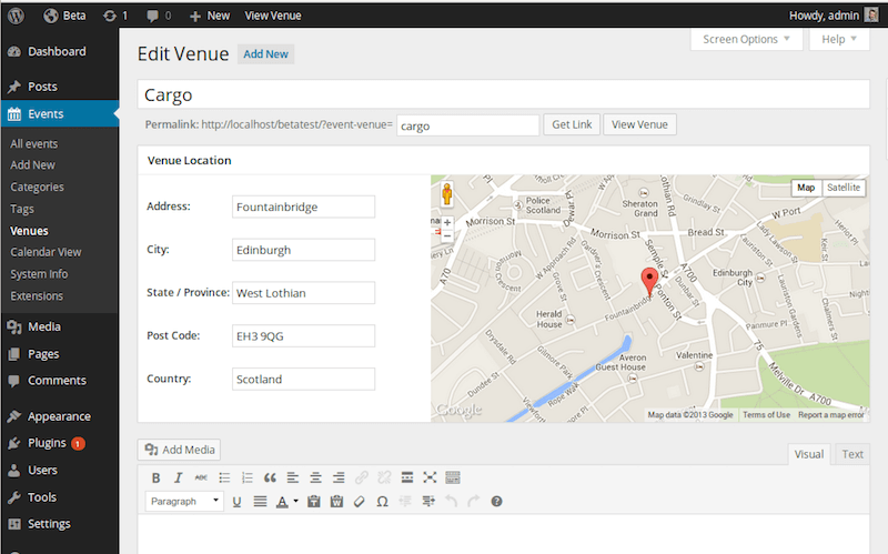 Event Organiser Plugin