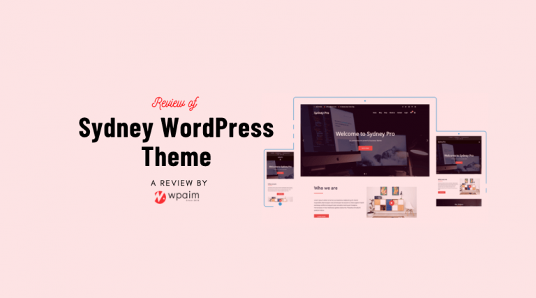 Sydney Theme Review: A Quality Business Theme