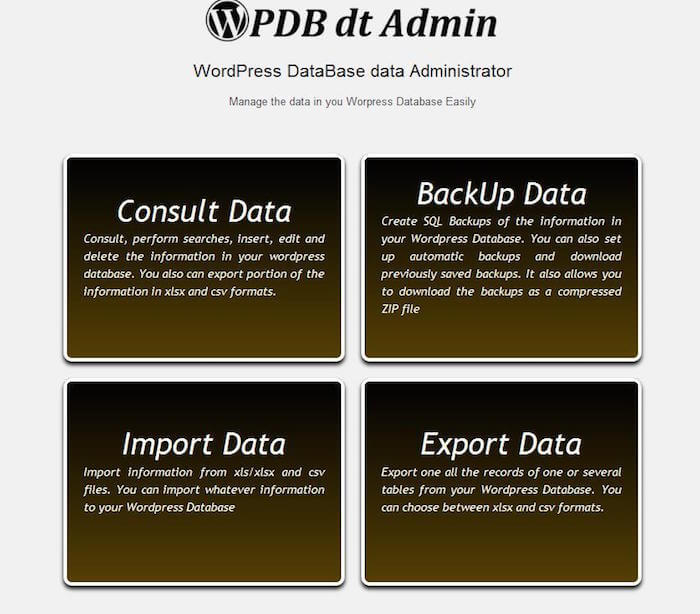 Wordpress-Database-data-Administrator