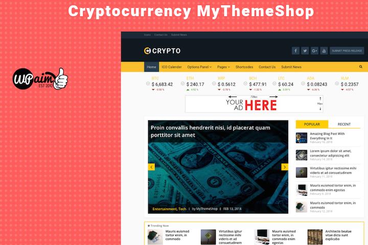 Crypto Theme Review: A Cryptocurrency WordPress Theme
